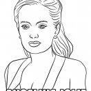 New celebrities coloring pages